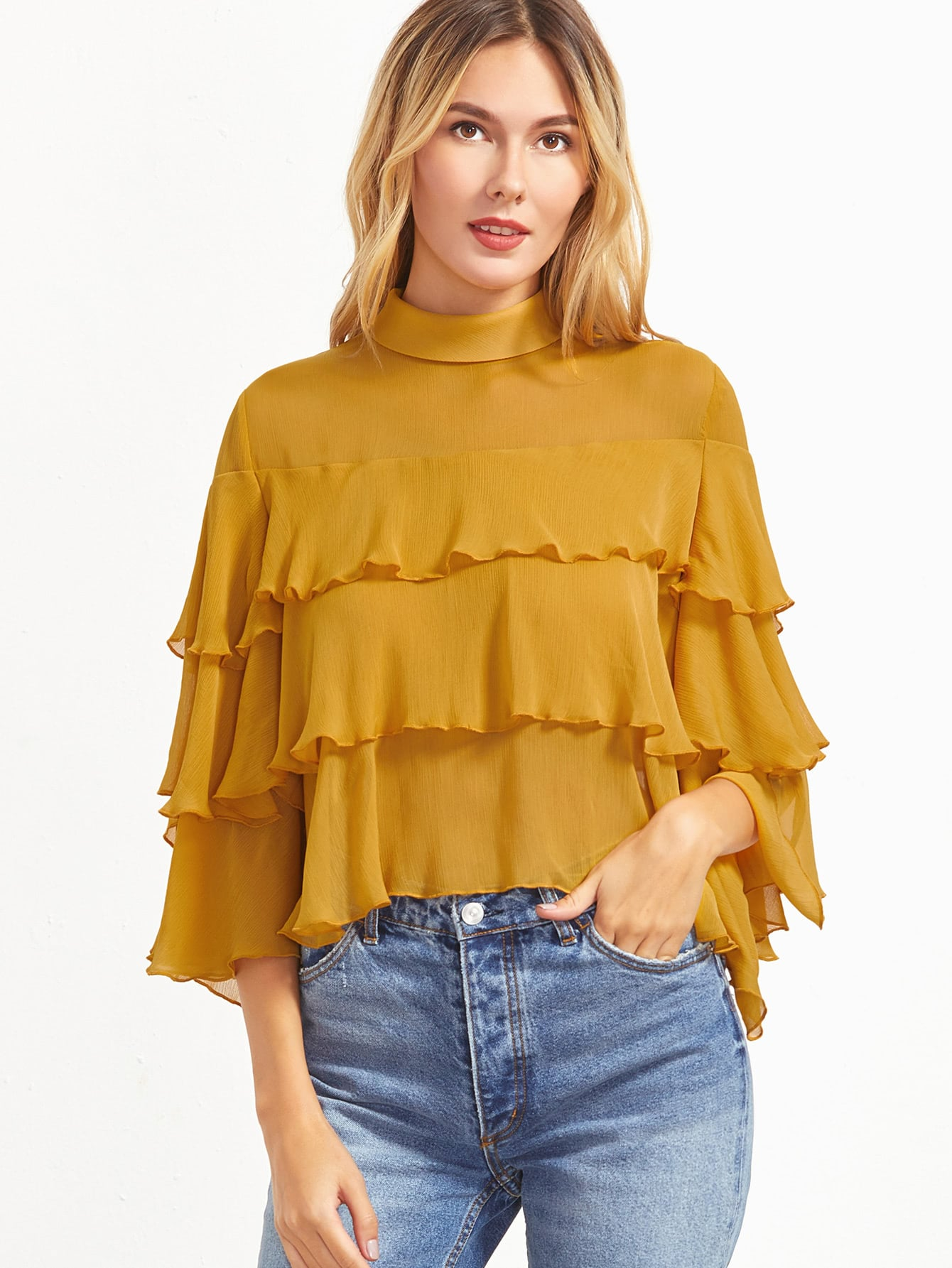 Ruffled Collar Blouses