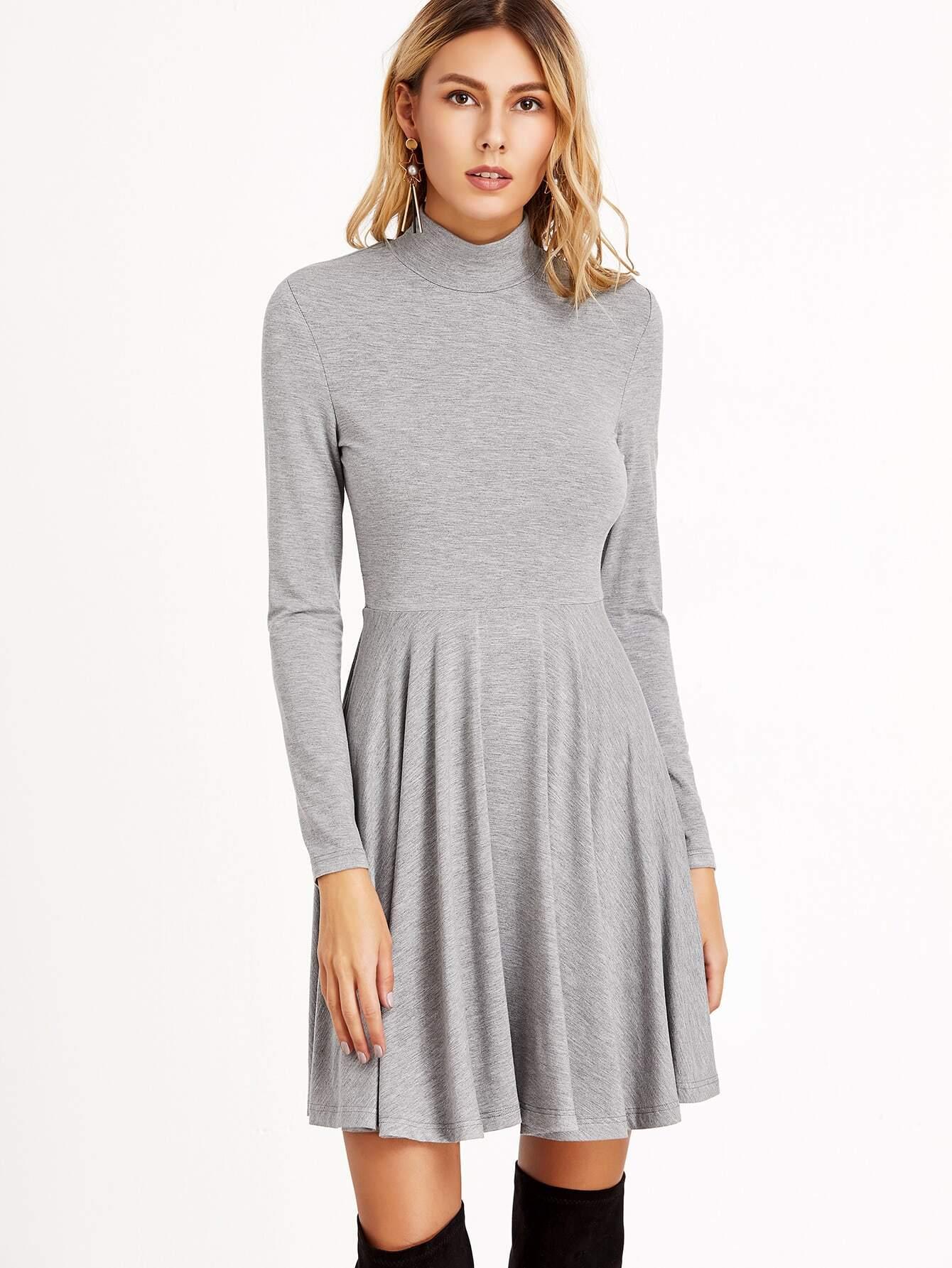 Фото Fit And Flared Jersey Pleated Dress. Купить с доставкой