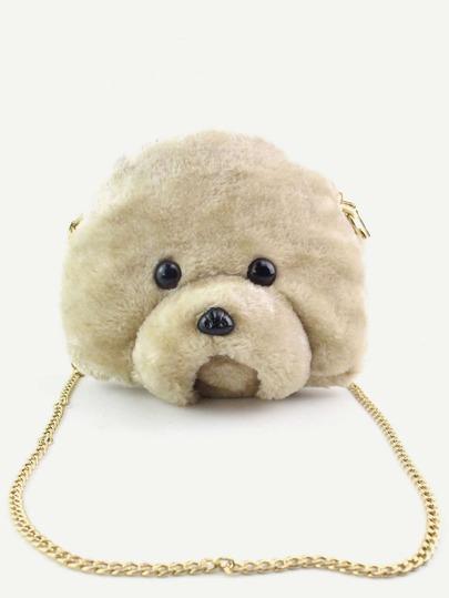 Bear Head Shaped Cartoon Chain Bag