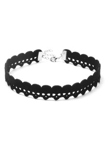 Black Skull Hollow Out Choker Necklace