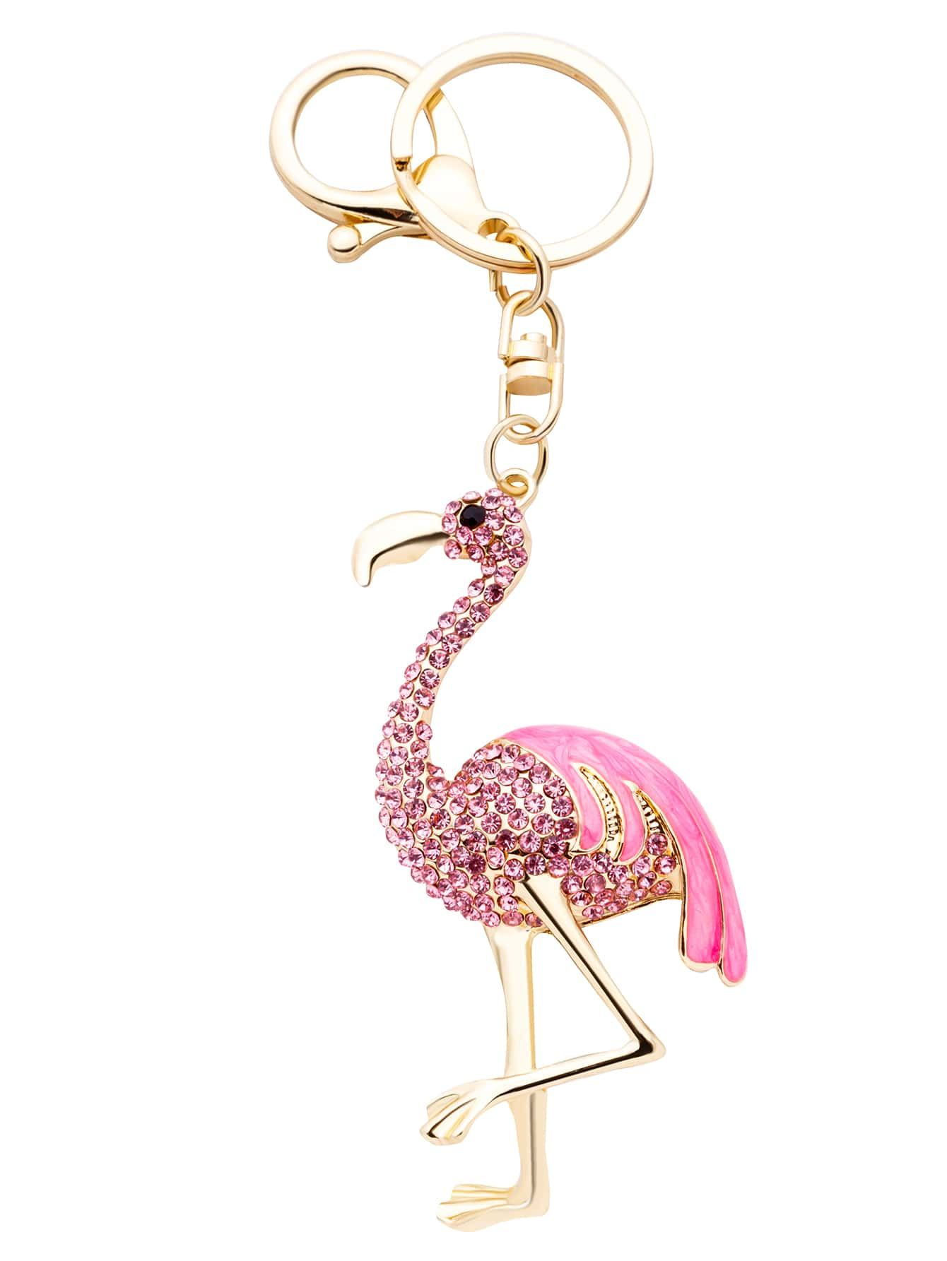 Pink Flamingo Rhinestone Encrusted KeychainPink Flamingo Rhinestone Encrusted Keychain<br><br>color: Pink<br>size: None