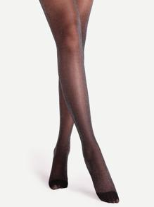 Black High Stretch Lurex Glitter Pantyhose Stockings