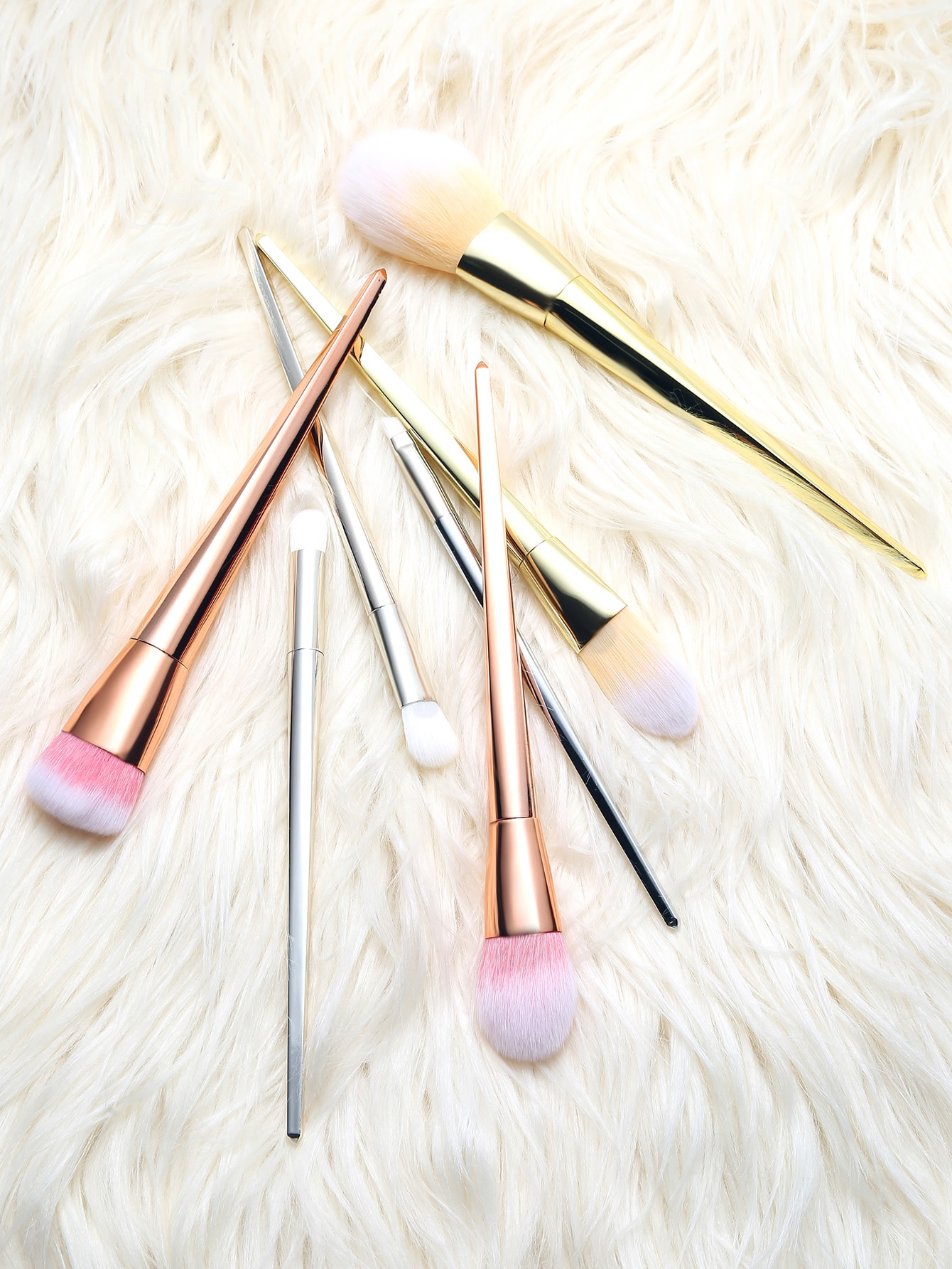 Multicolor Professional Makeup Brush Set 7PcsMulticolor Professional Makeup Brush Set 7Pcs<br><br>color: Multicolor<br>size: None