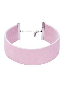 Pink Snake Skin Pattern Wide Choker Necklace