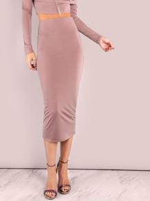 Elegant Midi Pencil Skirt MAUVE