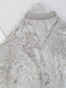 Lariat Choker Rhinestone Necklace SILVER