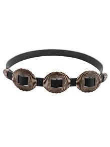 Cinturón estilo vintage - negro