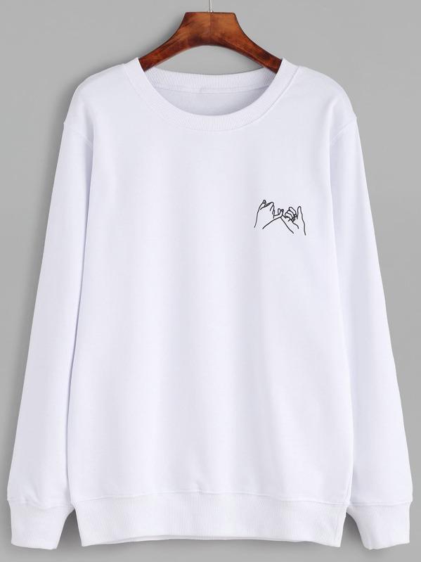 Gesture Print Sweatshirt, null