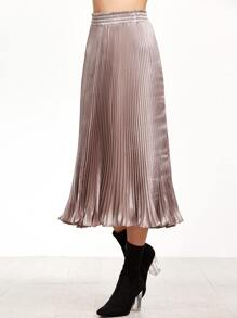 Light Rose Pleated Skirt