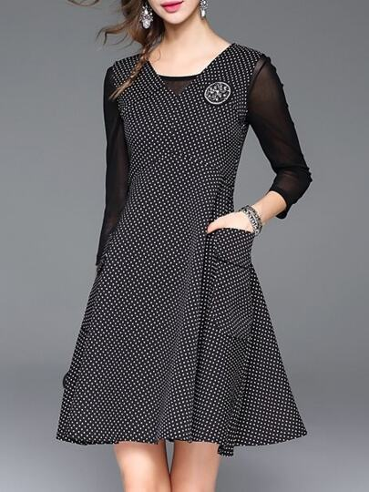 Galerry raglan flared dress