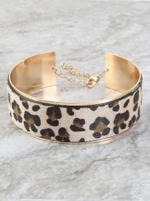 Metallic Leopard Choker Necklace LEOPARD