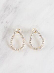 Crystal Tear Drop Earrings GOLD