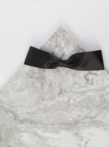 Satin Bow Tie Choker Necklace BLACK