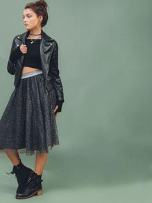 Falda de malla - negro