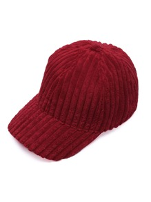 Cappello Di Baseball Di Velluto A Coste - Rosso