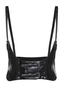 Cinturón ancho elástico con hebilla - negro