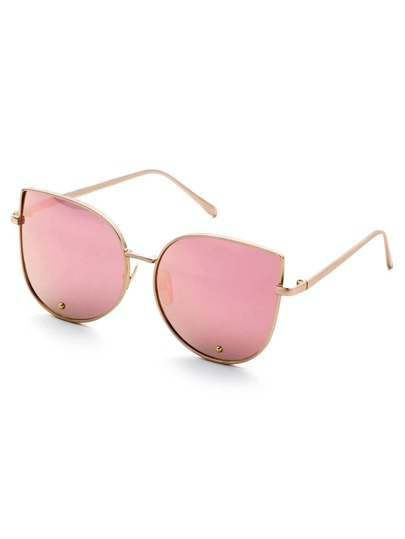 Gold Frame Pink Cat Eye Stylish Sunglasses