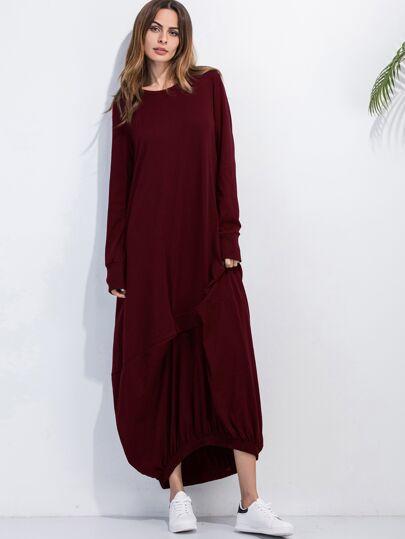 فستان أحمر مطاطي قابل للتحول