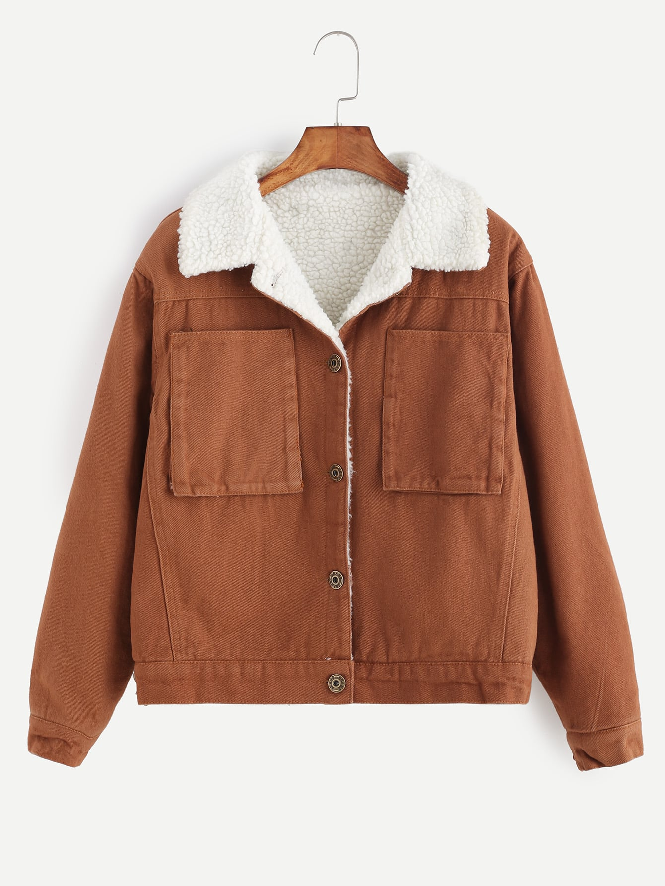 Brown Polyester School Collared Single Breasted Fall Winter Plain Fabric has no stretch Yes Regular Fit Button Pocket Jackets.
