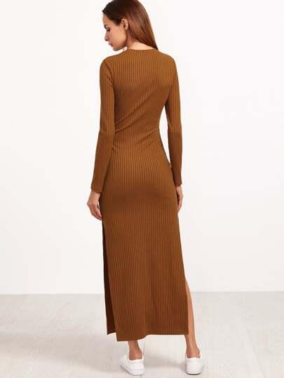 Kleid braun langarm