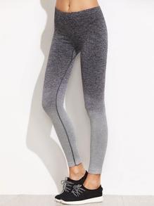 Ombre Elastic Waist Skinny Leggings