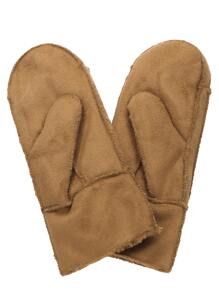 Camel Faux Shearling Gloves