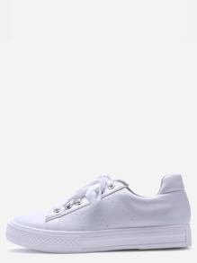 Zapatillas deportivas con suela de goma - blanco