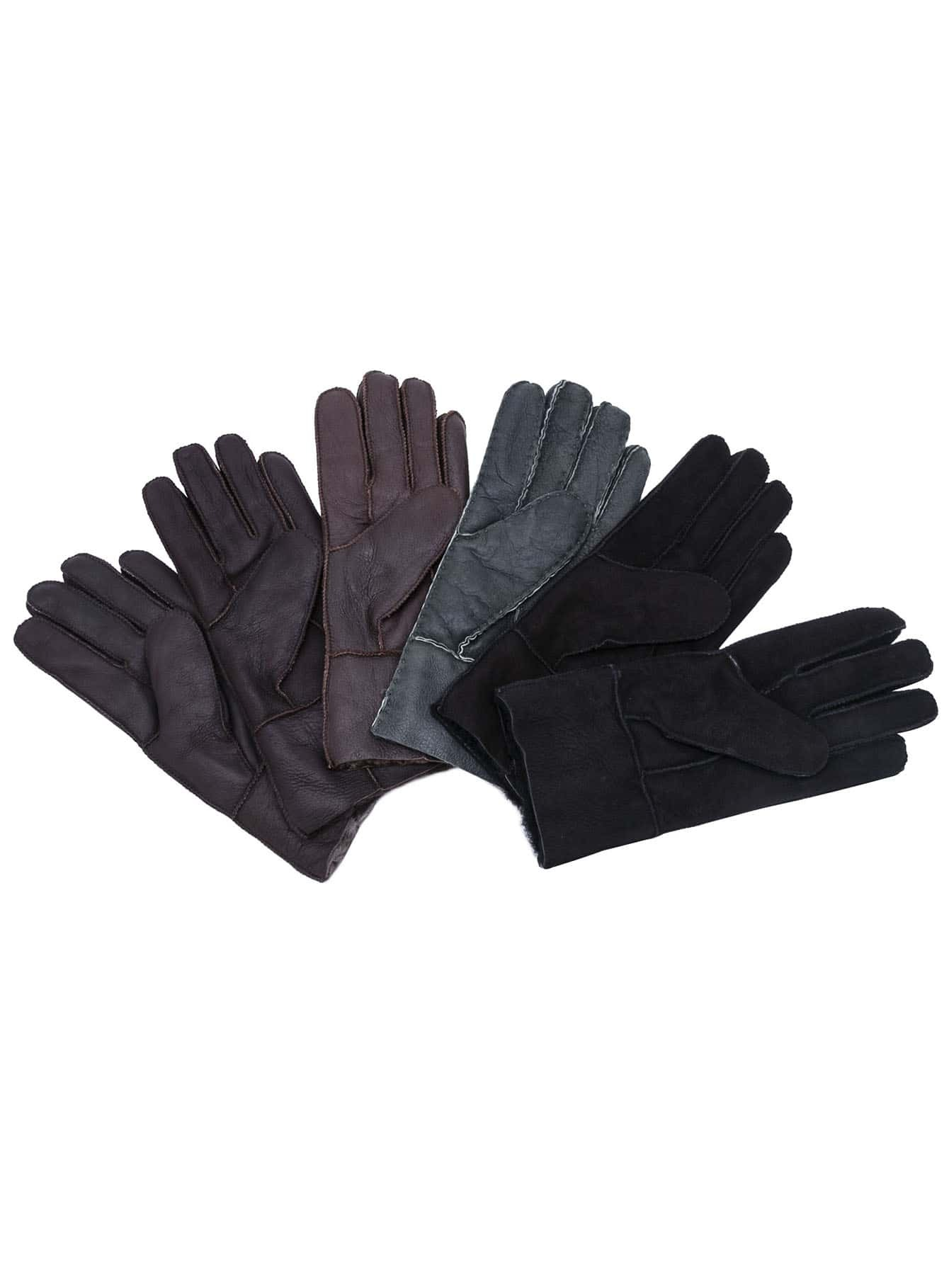 Random Color Fluffy Lining Leather Thermal GlovesRandom Color Fluffy Lining Leather Thermal Gloves<br><br>color: None<br>size: one-size