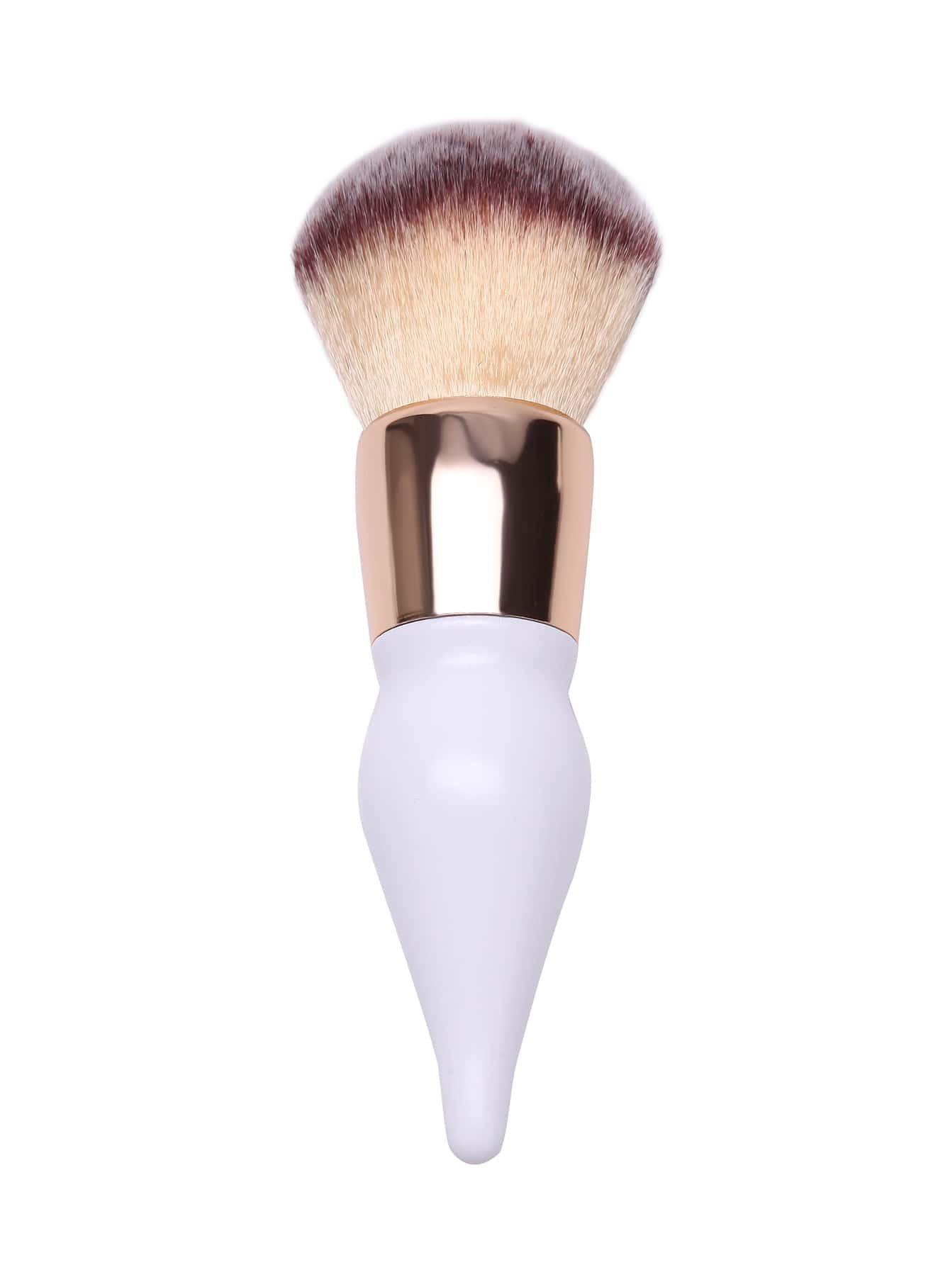 Pearl White Gourd Design Powder Puff Brush