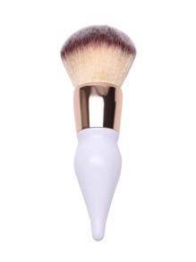Brosse à poudre en forme de gourde - blanc