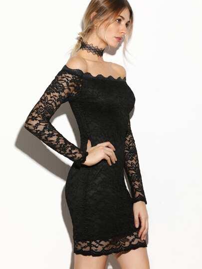 Платье гипюровое с открытыми плечами
