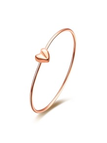 Gold Plated Heart Personalized Stylish Bangle