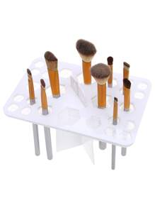 White 26 Hole Makeup Brushes Display Holder