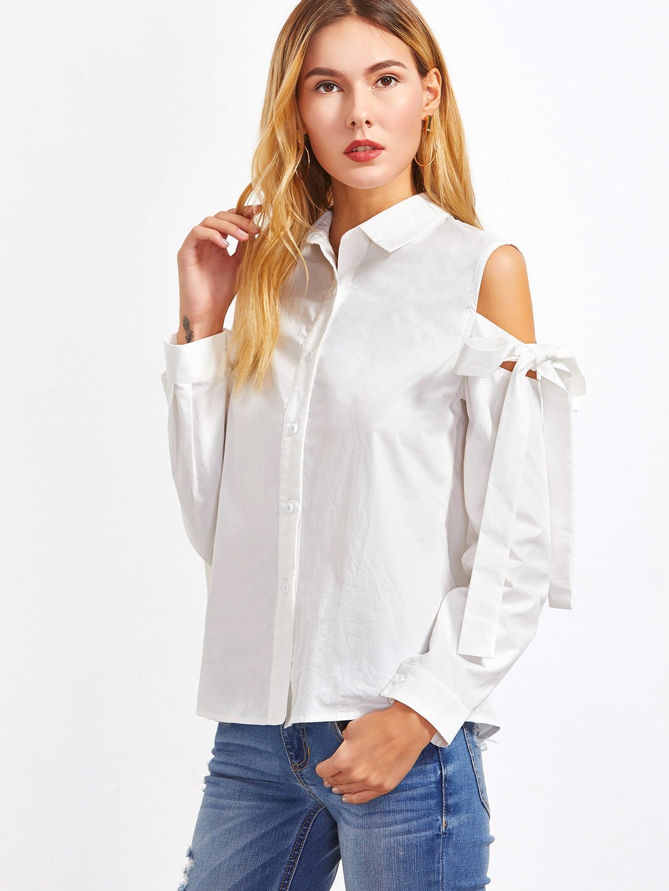 Белые Блузки На Кнопках