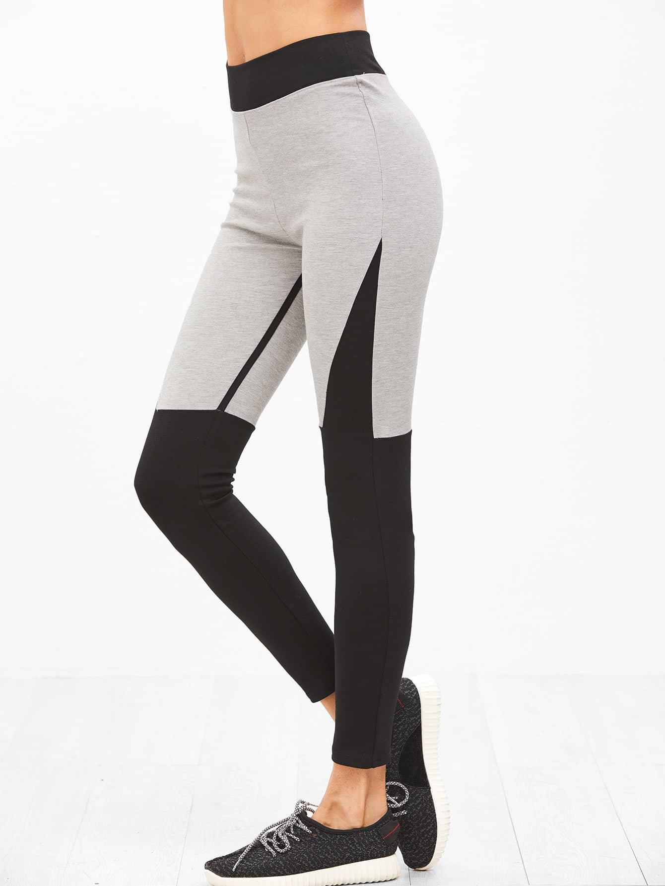 Фото Contrast Cut And Sew Leggings. Купить с доставкой