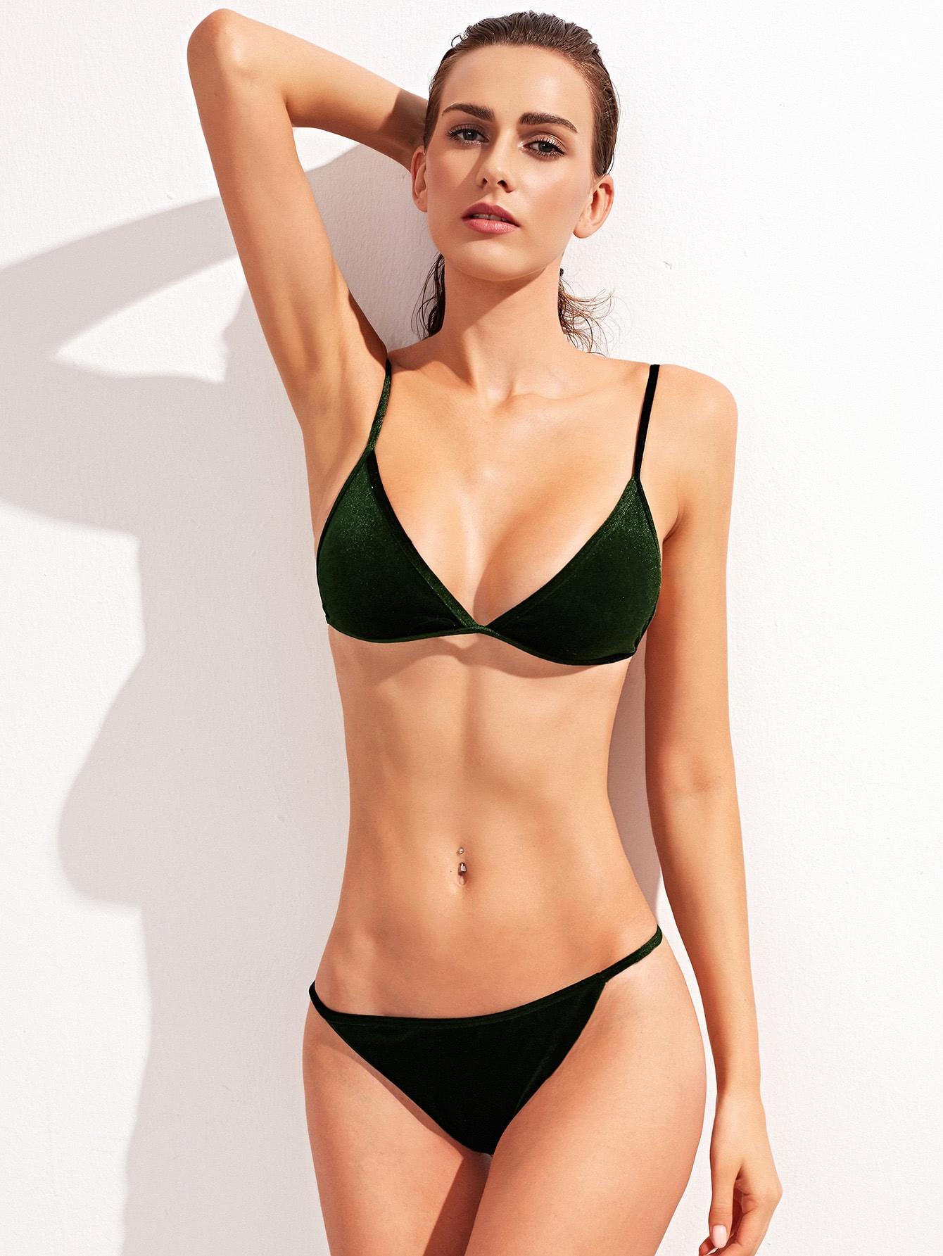 Фото Triangle Velvet Bikini Set. Купить с доставкой