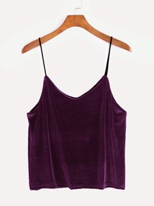 Purple Velvet Cami Top