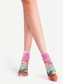 Chaussettes graphique - multicolore
