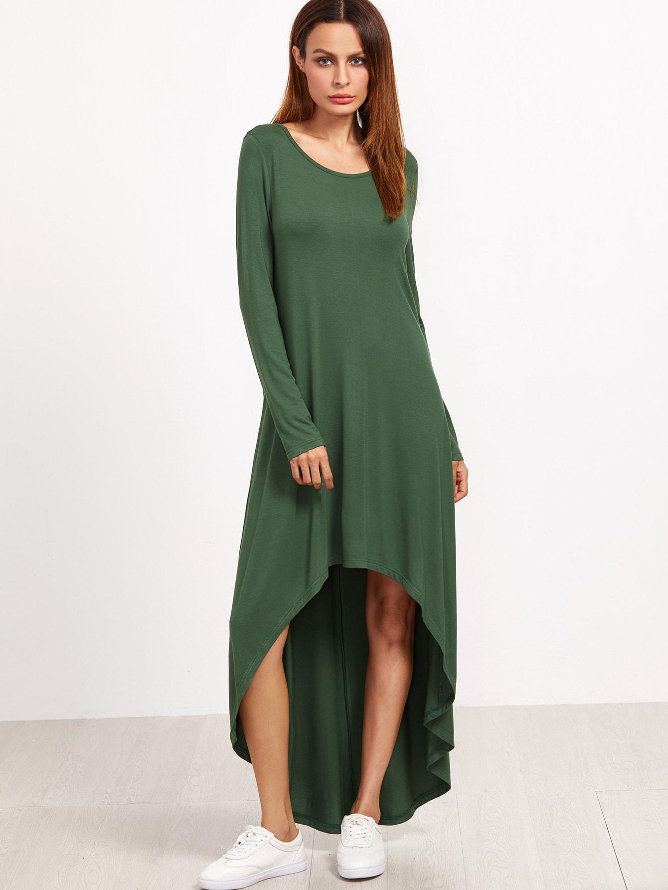Kleid vorne kurz hinten lang grun