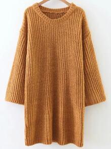Ginger Round Neck Drop Shoulder Sweater Dress