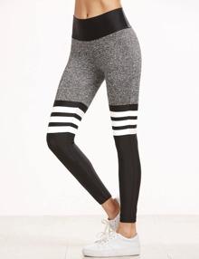 Sport Leggings mit Streifen Elastische am Taille-kontrastfarbe