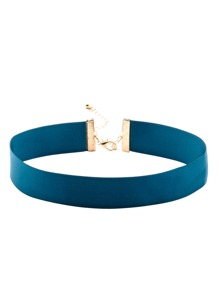 Turquoise Ribbon Simple Choker Necklace