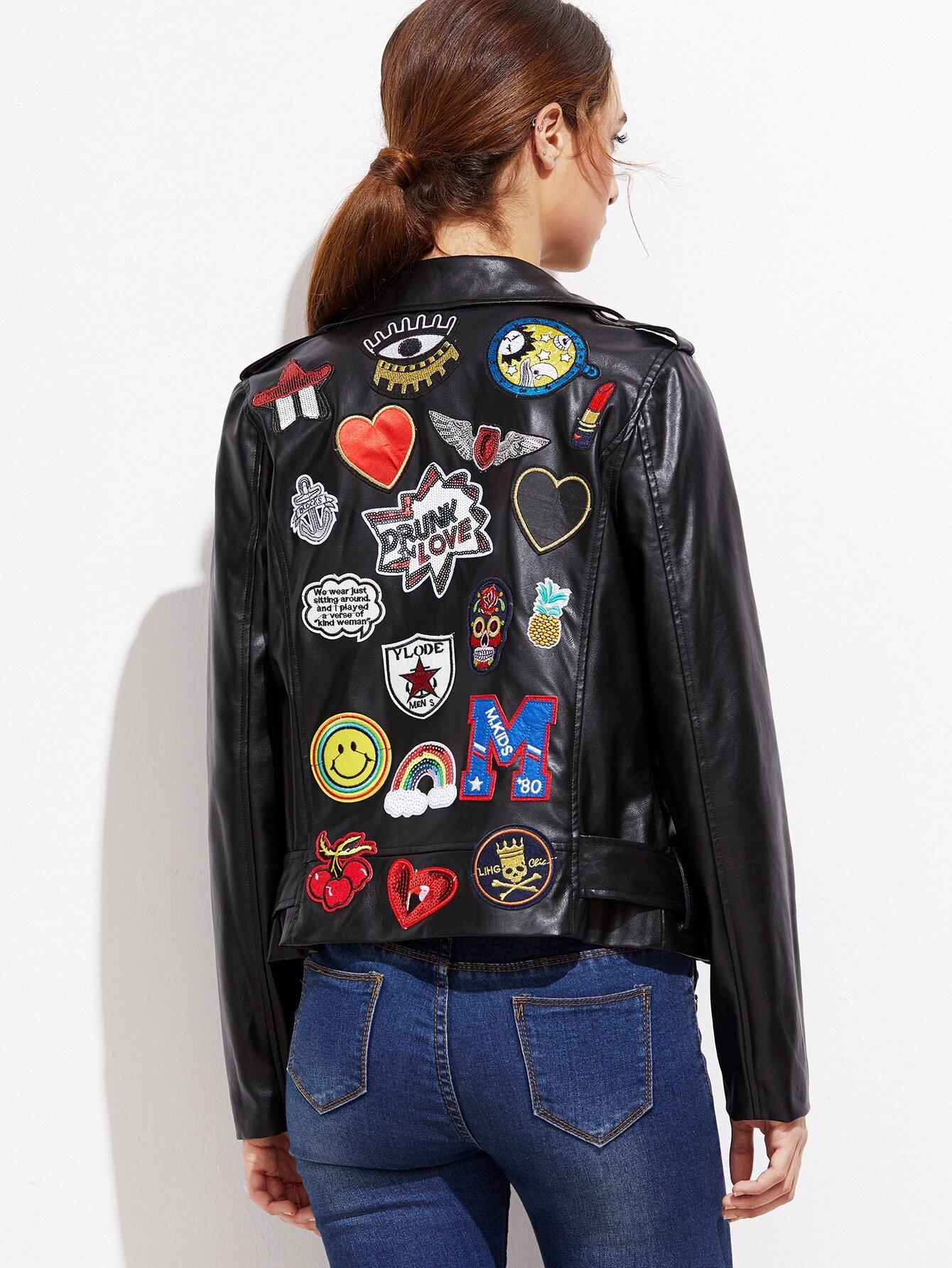 Вышивка на спине на куртке 214