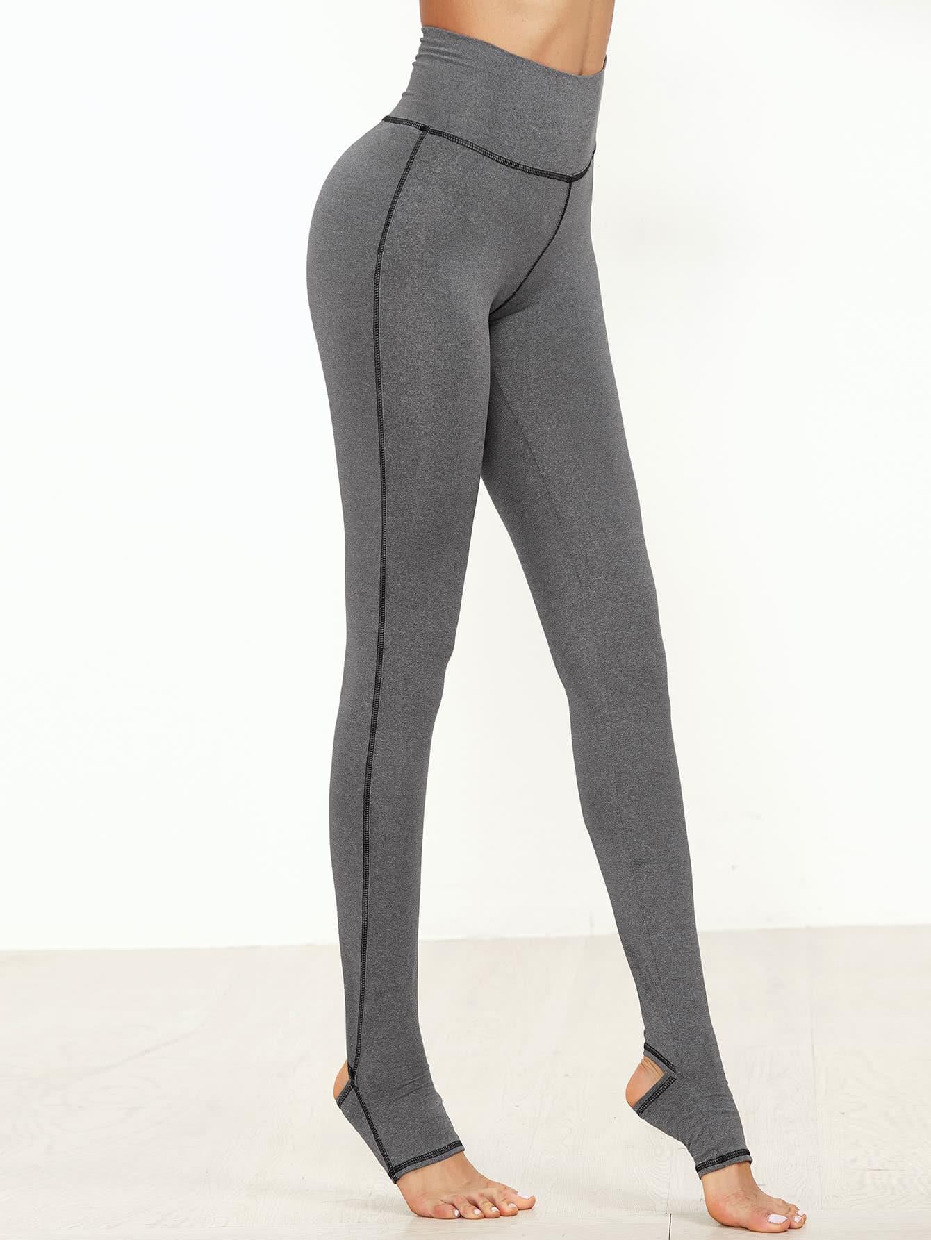 Marled Knit Topstitch Stirrup Leggings marled knit topstitch stirrup leggings