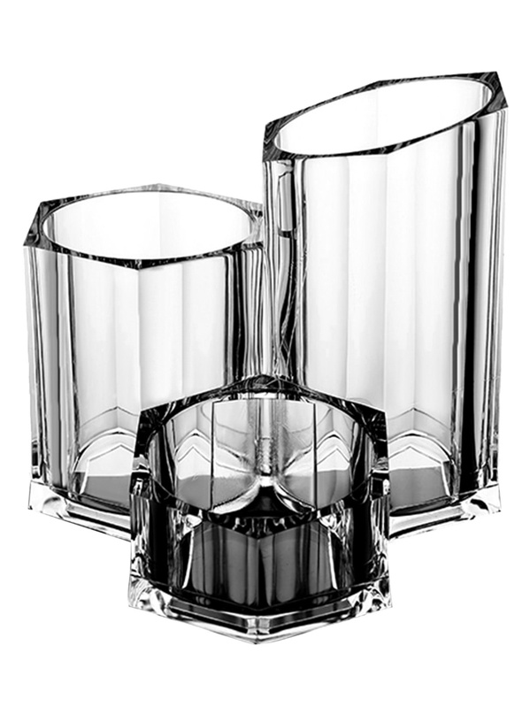 Clear Makeup Brush Holder & Beauty Storage, null