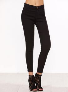 Pantalons en denim collants - noir