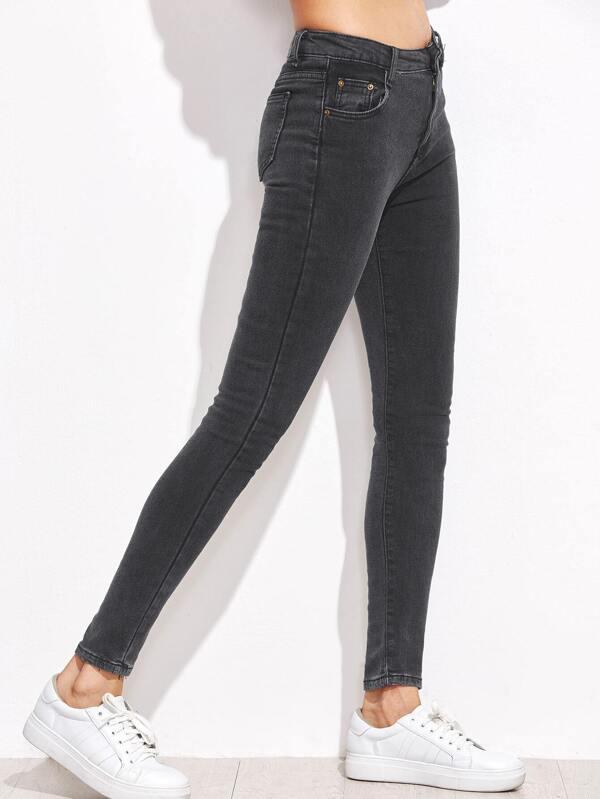 Amato Jeans Stretti - Grigio Scuro-Italian SheIn(Sheinside) BU72