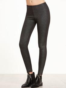 Black Sparkle Ankle Leggings