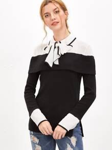 Комбинированная модная блуза