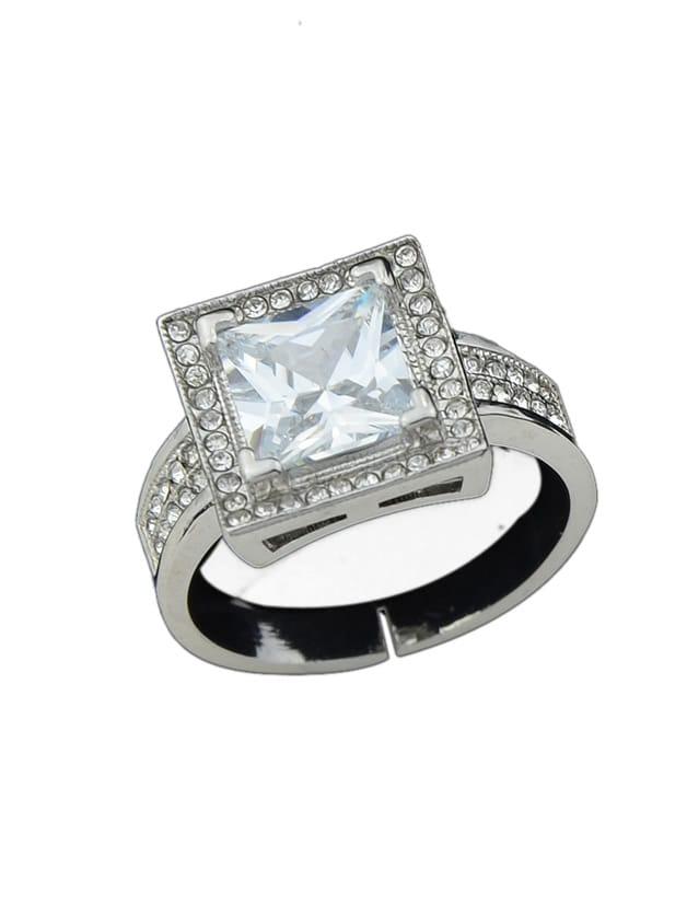 Фото Silver Color Imitation Crystal Big Band Rings. Купить с доставкой